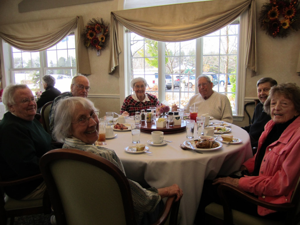 Residents enjoying each other's company
