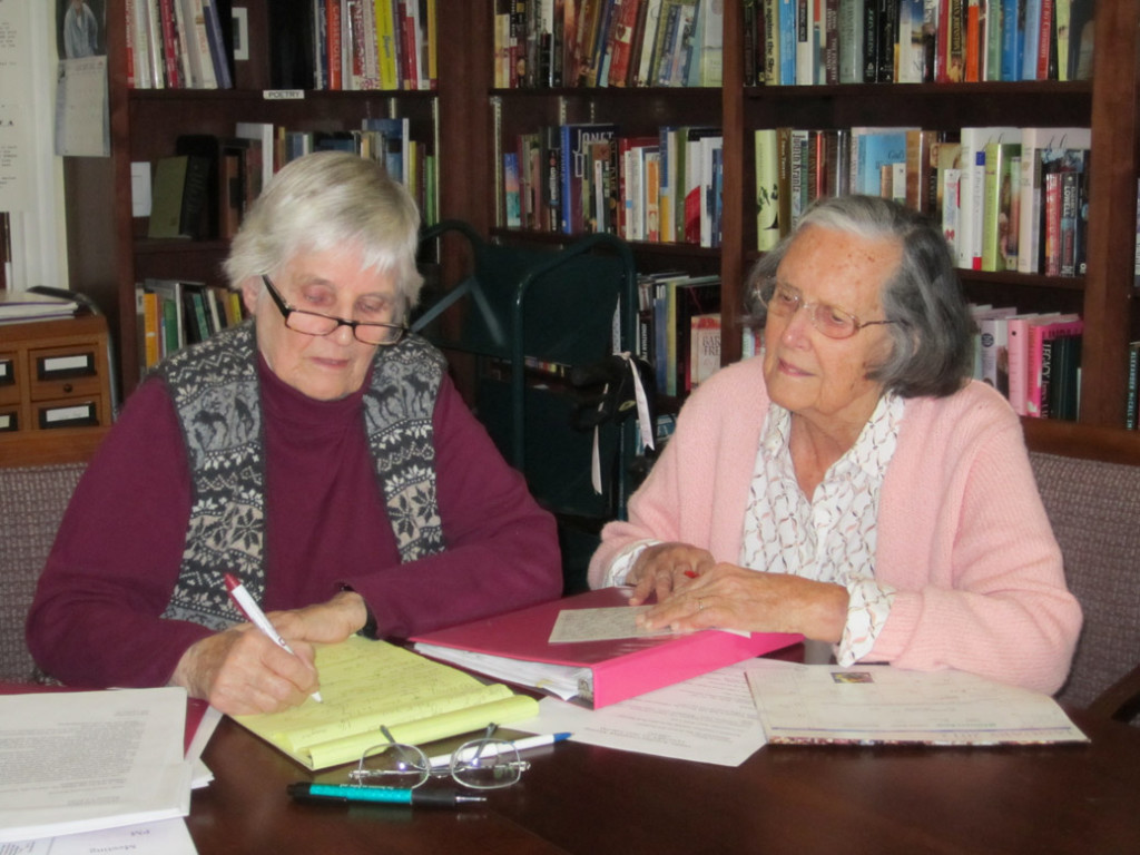 Residents meeting for a writing project