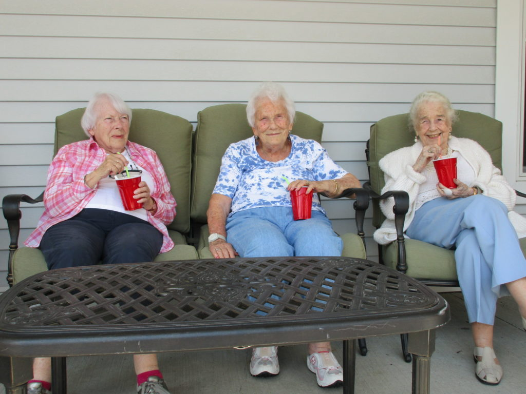 Root beer floats on the front patio