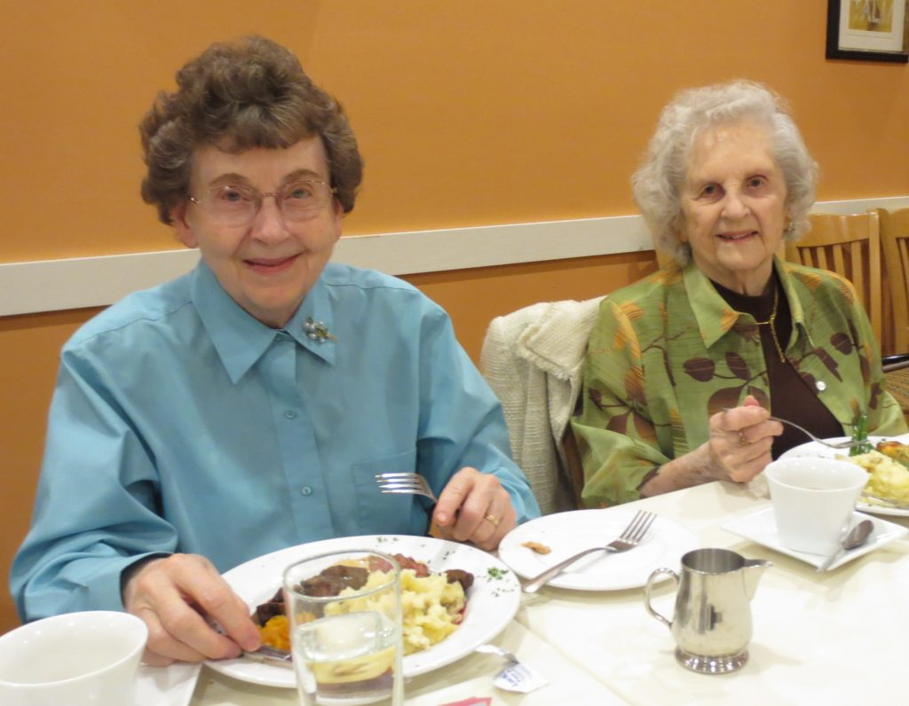 Residents enjoying a luncheon outing