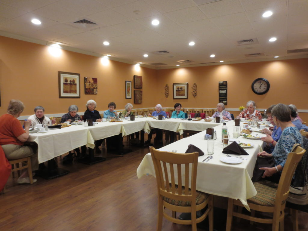 Residents go out to lunch once a month