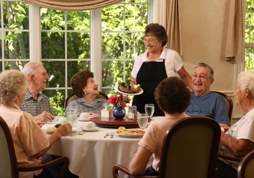 Full dining services are a part of The Gables experience